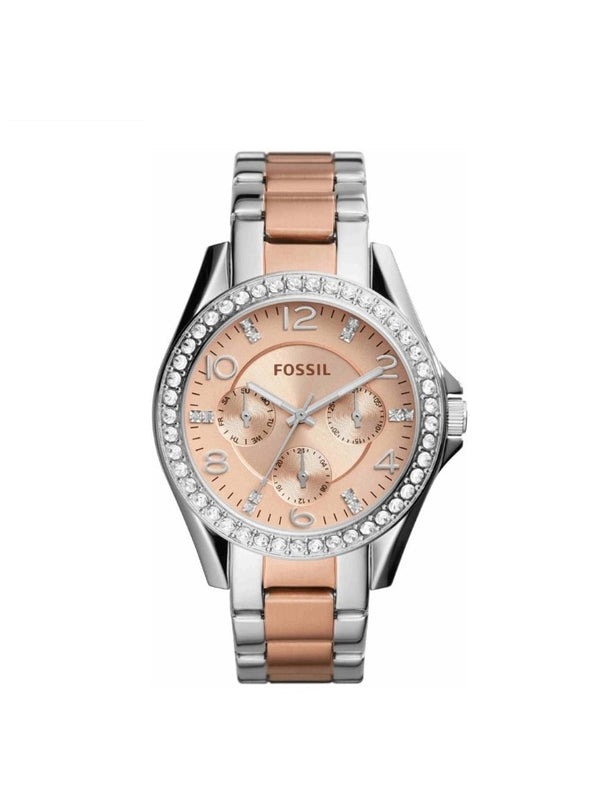 Fossil ES4145 Womens Riley Two-Tone Stainless Steel Bracelet Watch