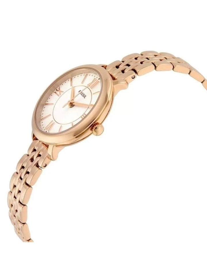 Fossil Es3799 Jacqueline Mini Rose-Tone Stainless Steel Watch