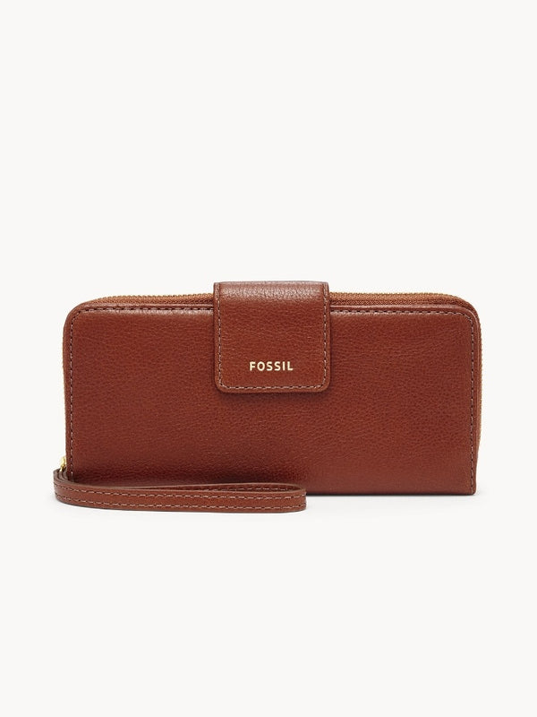 Fossil Swl2228210 Madison Zip Clutch Medium Brown