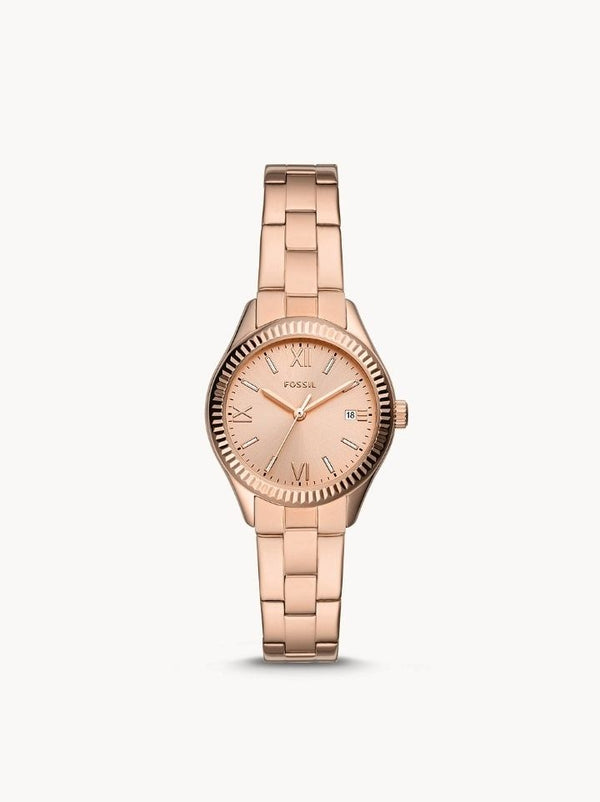 Fossil BQ3639 Rye Three-Hand Date Rose Gold-Tone Stainless Steel Watch