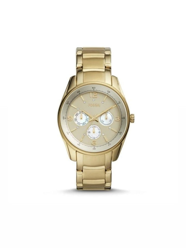 Fossil Bq1475ie Justine Multifunction Gold Tone Watch