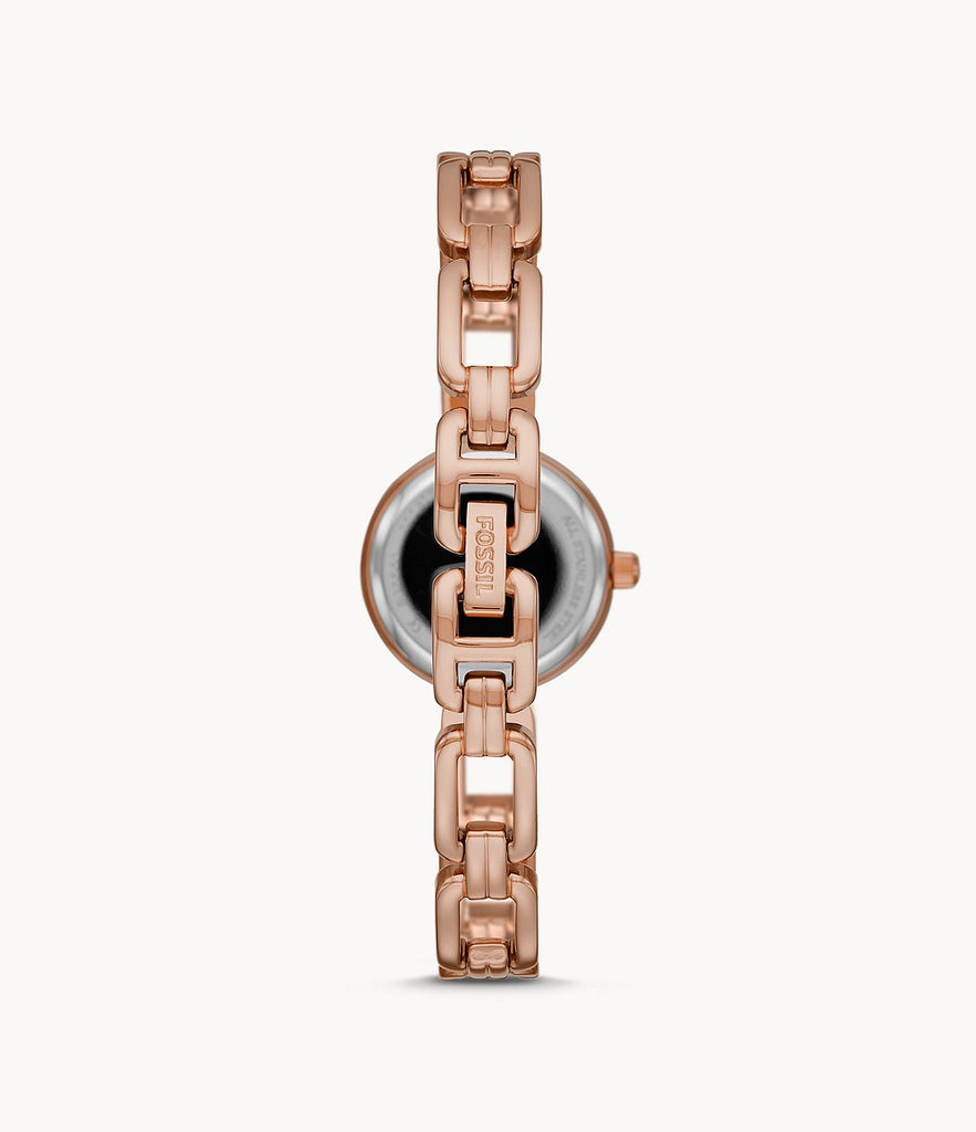 Fossil Bq3560 Kerrigan Mini Three Hand Rose Gold Tone Stainless Steel Watch