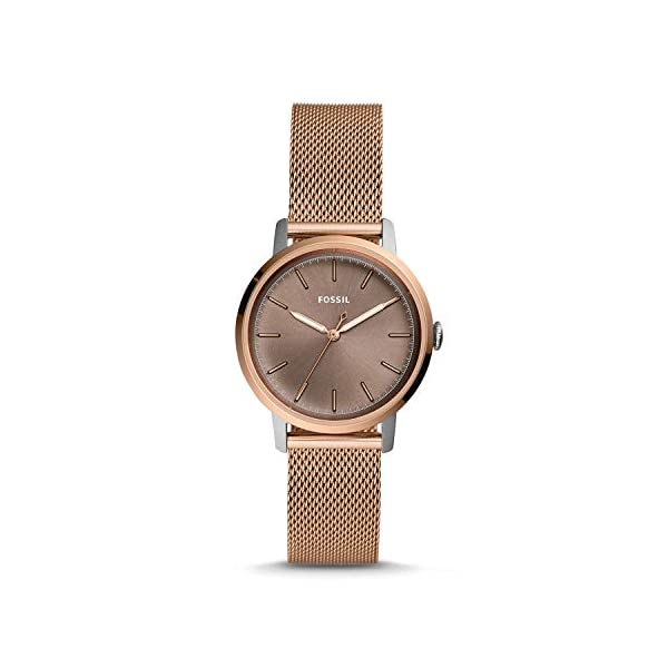 Fossil Es4468 Womens Neely Rose-Tone Stainless Steel Watch