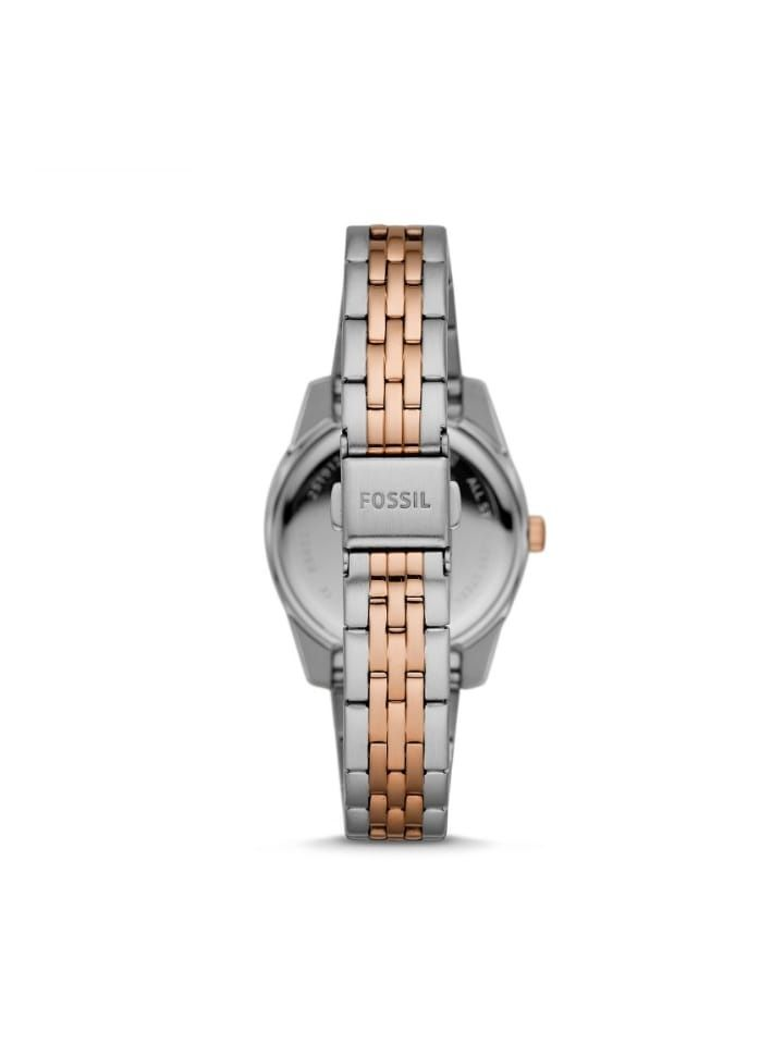 Fossil Es4821 Scarlette Mini Three-Hand Two-Tone Stainless Steel Watch
