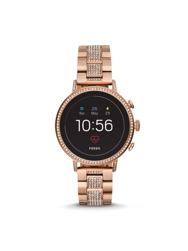 Fossil Ftw6011 Gen 4 Smartwatch Venture Rose Gold Tone Stainless Steel