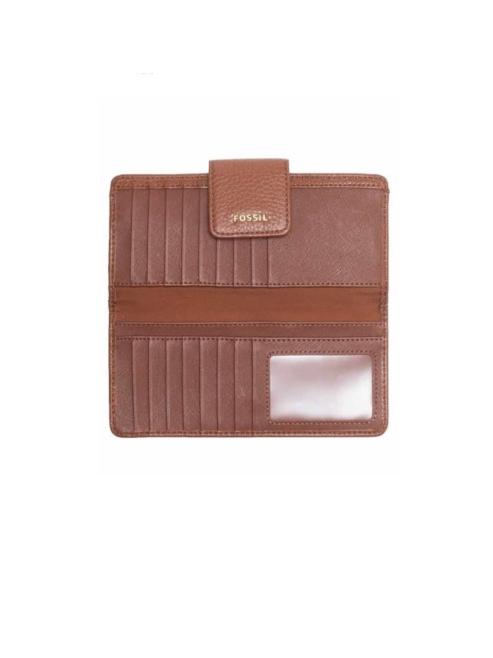 Fossil Swl1574210 Madison Slim Clutch Medium Brown