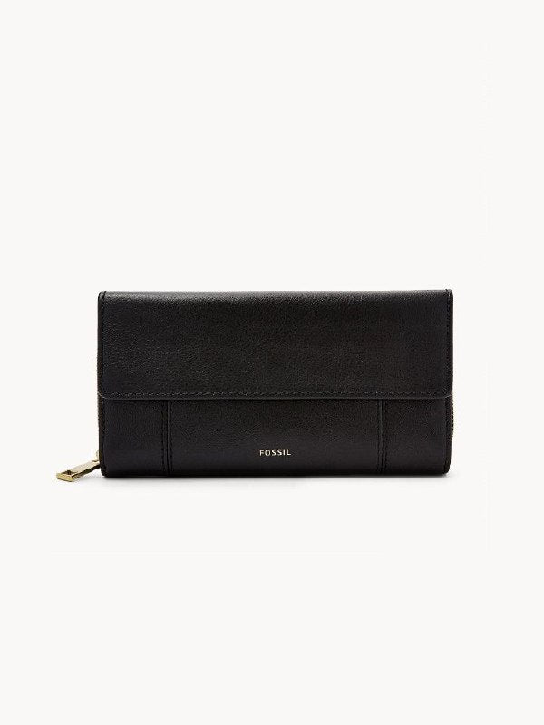 Fossil Swl3009001 Jori Flap Clutch Black