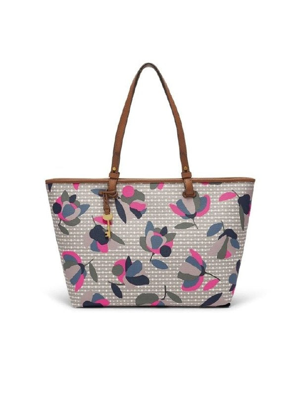 Fossil Zb7499782 Rachel Ew Tote Floral Multi / White