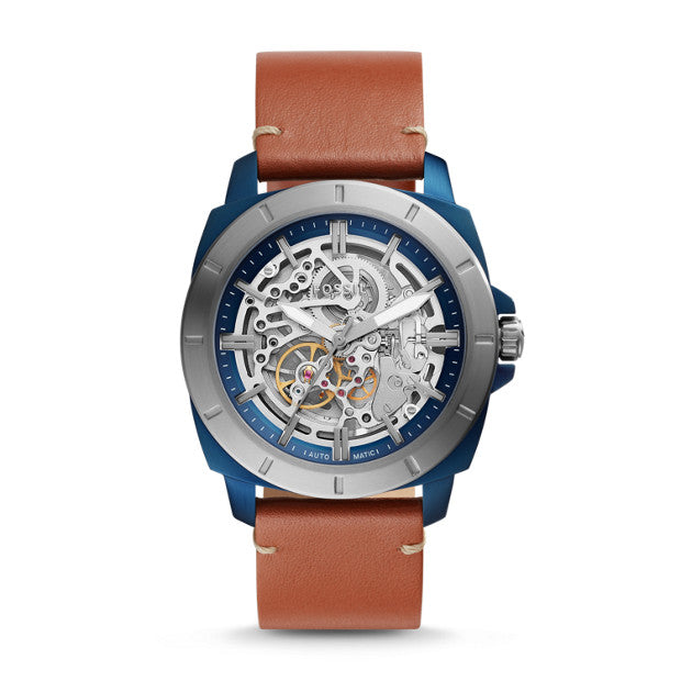 Fossil Bq2427 Privateer Sport Mechanical Luggage Leather Watch