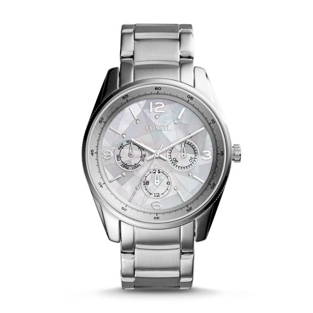 Fossil Bq3102 Justine Multifunction Stainless Steel Watch