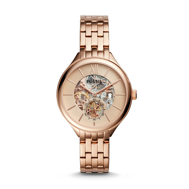 Fossil Bq3264 Suitor Mechanical Rose Gold-tone Stainless Steel Watch