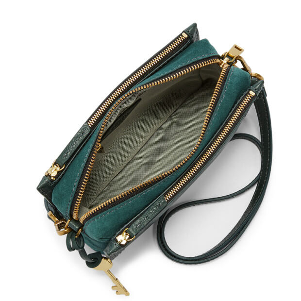 Fossil Zb7401307 Campbell Crossbody Alpine Green