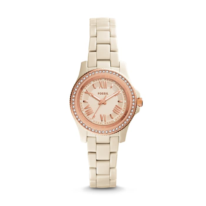 Fossil Ce1090 Cecile Toasted Almond Ceramic Watch