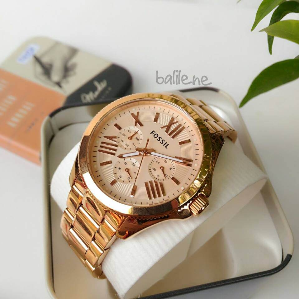 Fossil AM4511 Cecile Multifunction Chronograph Rosegold Watch