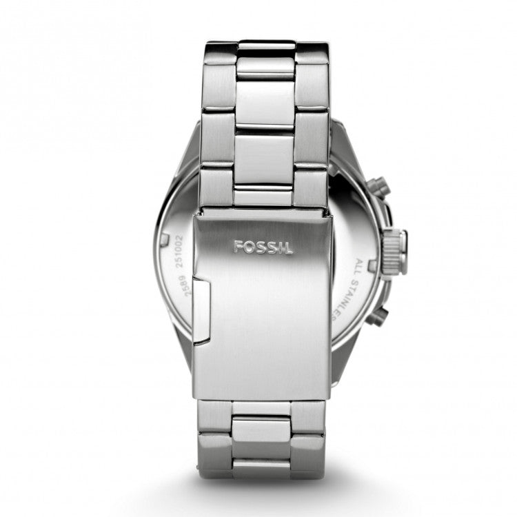 Fossil Ch2600 Decker Silver Stainless Steel Chronograph Watch
