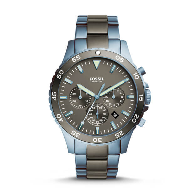 Fossil Ch3097 Crewmaster Sport Chronograph Grey Dial Watch