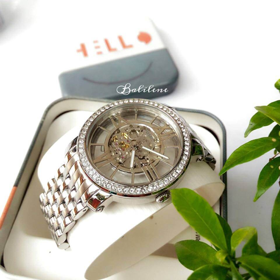 Jam Tangan Fossil Me3059 Curiosity Automatic Stainless Steel Wanita Original Es3264 Watch