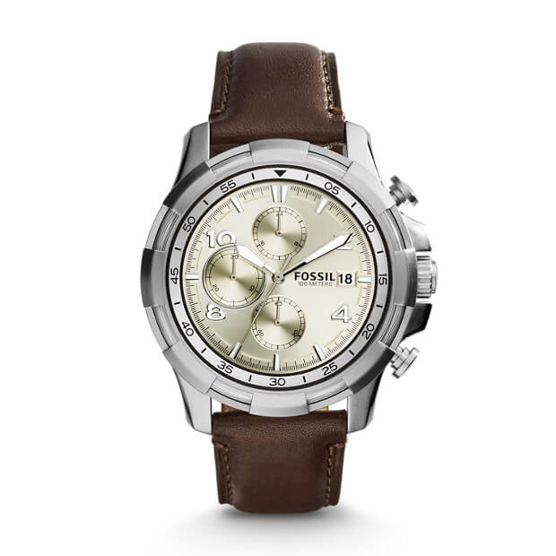 Fossil FS5114 Dean Chronograph Dark Brown Leather Watch