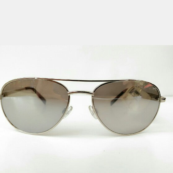 Fossil Dechert Silver Grey Aviator Sunglasses