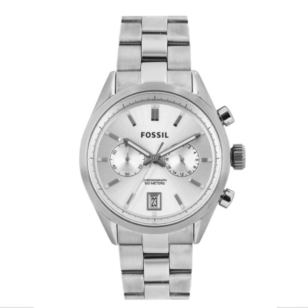 Fossil CH2968 Del Rey Chronograph Silver Dial Stainless Steel Watch