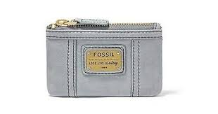 Fossil Emory Zip Coin In Smokey Blue