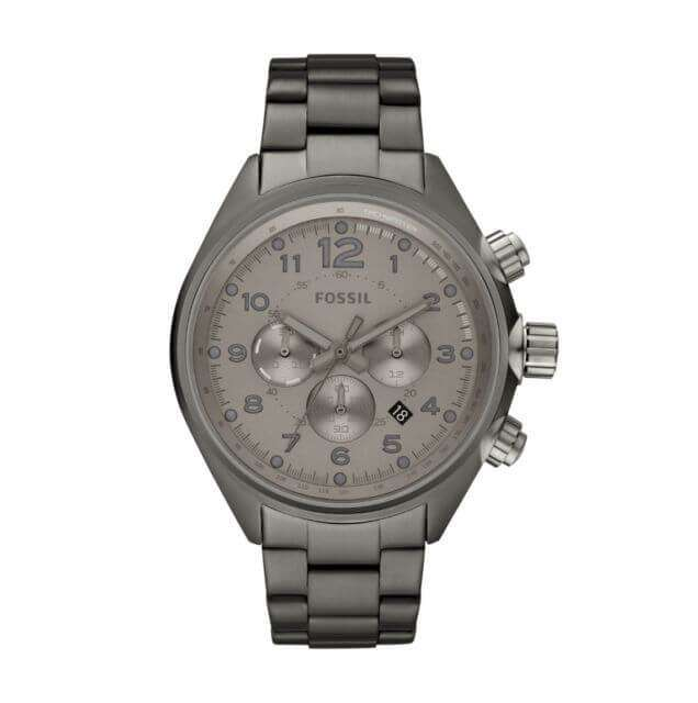 Fossil CH2802 Flight Chronograph Smoke Stainless Steel Watch