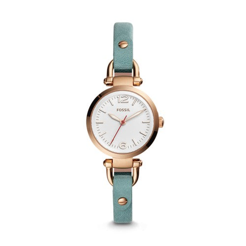 Fossil Es4176 Georgia Mini Theree Hand Teal Green