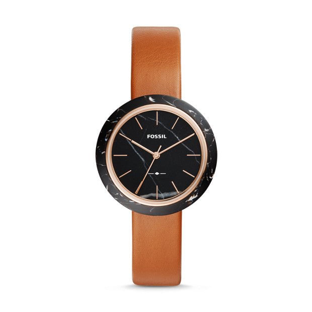 Fossil Es4382 Camille Three-hand Luggage Leather Watch