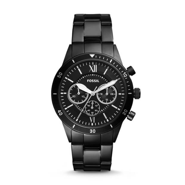 Fossil BQ2227 Flynn Sport Chronograph Black Stainless Steel Watch