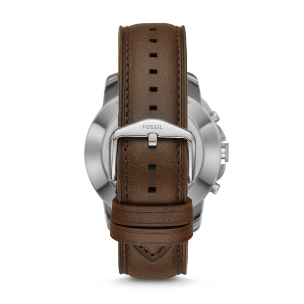 Fossil Ftw1156 Q Grant Hybrid Smartwatch Leather Strap Brown
