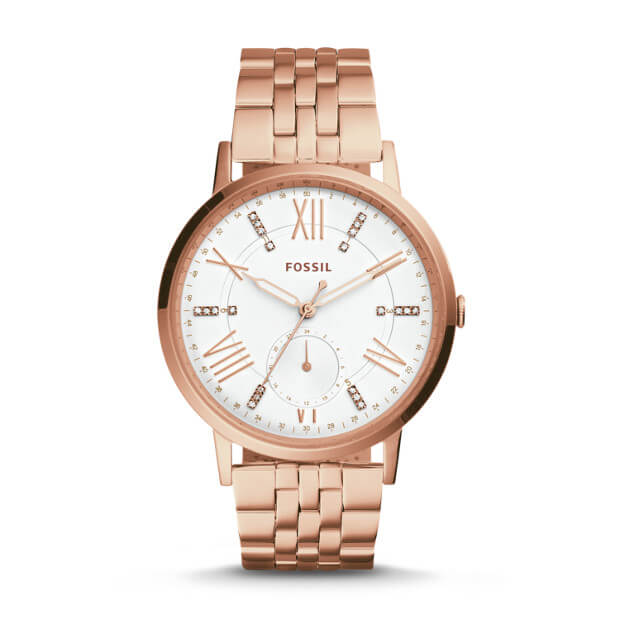 Fossil Es4246 Gazer Multifunction Rose Gold-tone Stainless Steel Watch