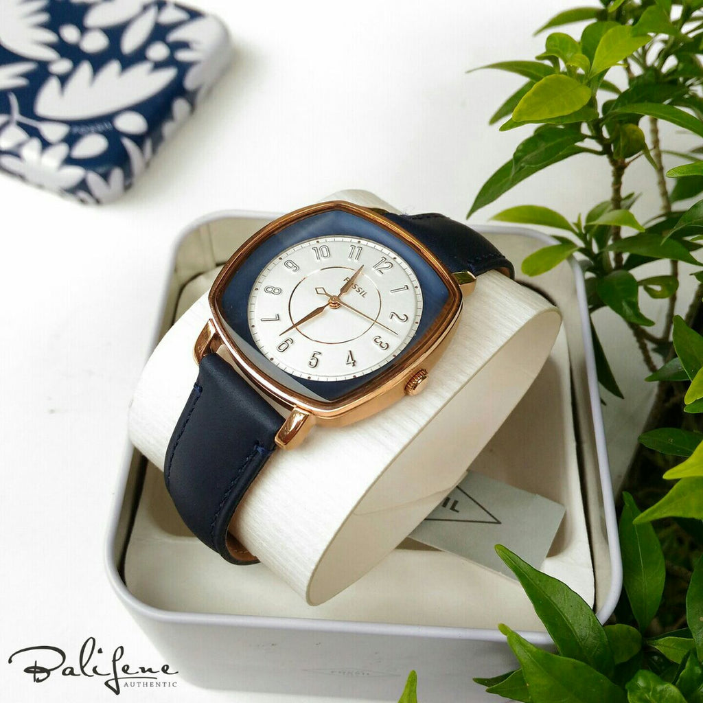 Jam Tangan Fossil Es4197 Idealist Navy Leather Watch Original Balilene Wanita Es3264