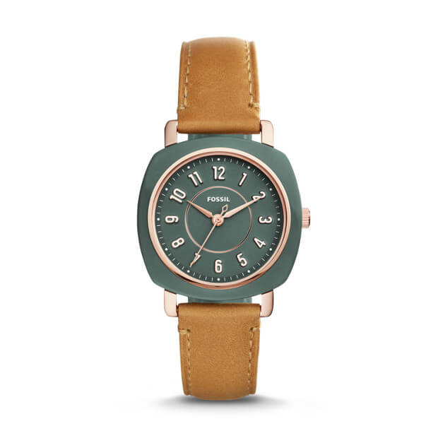 Fossil Es4279 Idealist Three-hand Tan Leather Watch