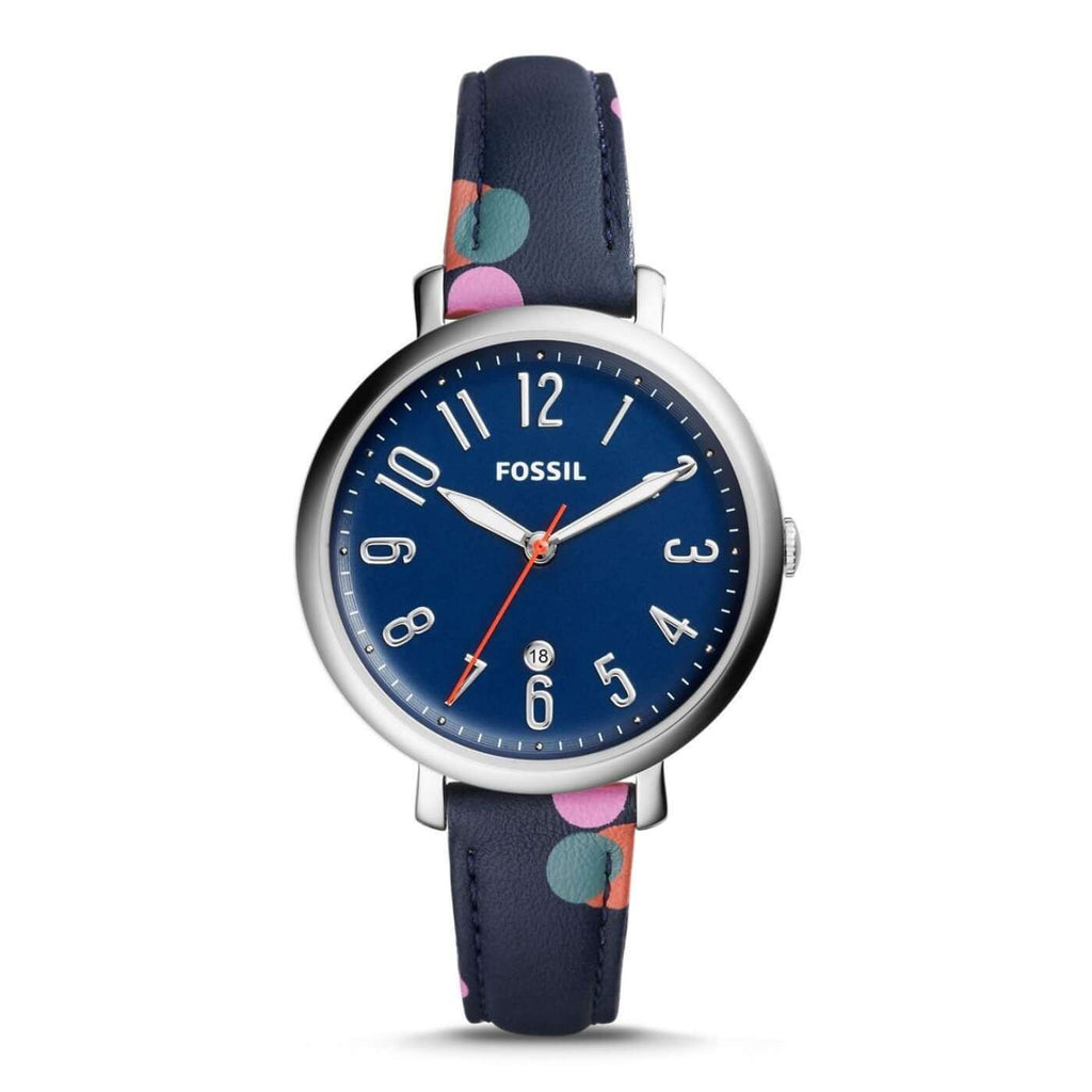 Jam Tangan Fossil ES4132 Jacqueline Navy Multicolor Watch