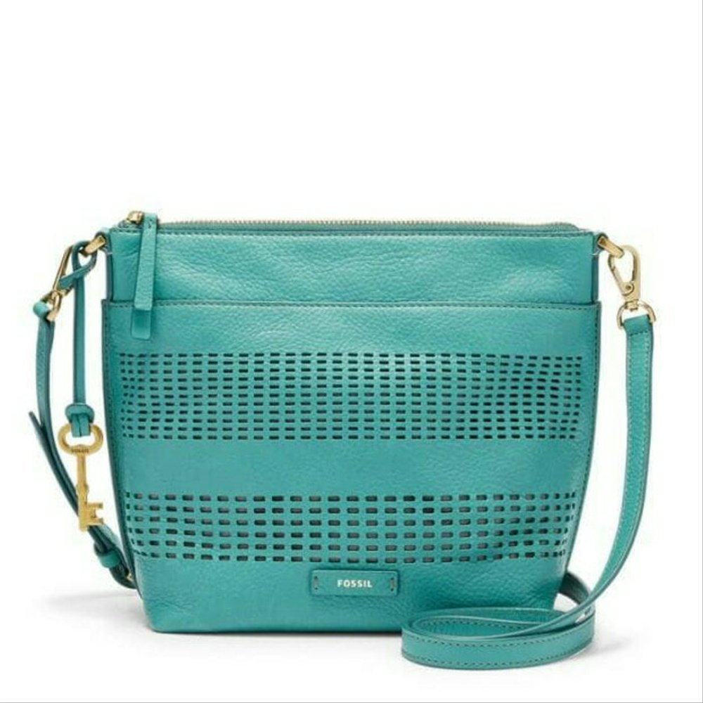 Fossil Julia Crossbody Teal Green