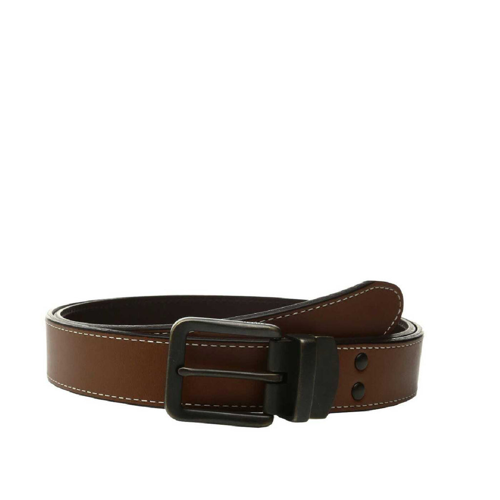 Fossil MB1007 Fitz Reversible Belt Dark Brown size 34