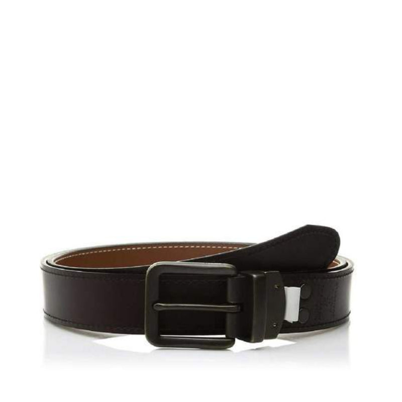 Fossil  Mb100720138 Fitz Reversible Belt Dark Brown Size 38