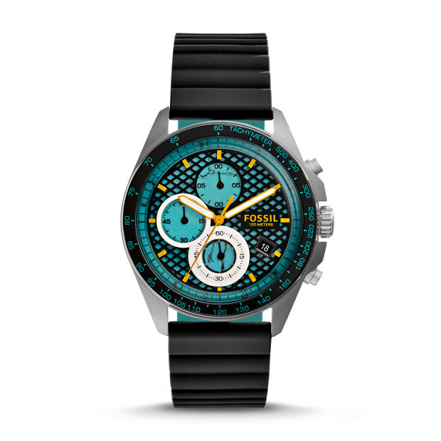 Fossil CH3091 Men Sport 54 Chronograph Black-green Rubber