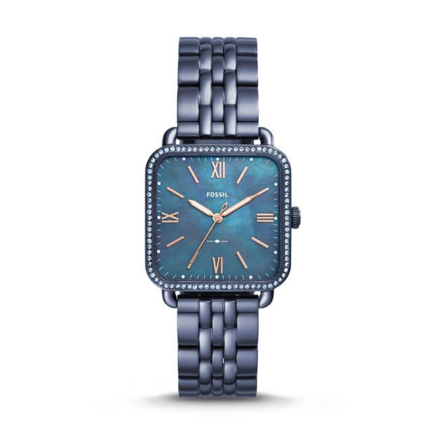 Fossil Es4290 Micah Ladies Blue Mother Of Pearl Dial Blue
