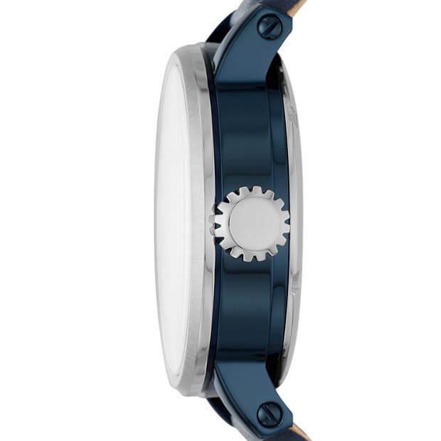 Fossil ME3136 Boyfriend Automatic Watch With Blue Leather Strap