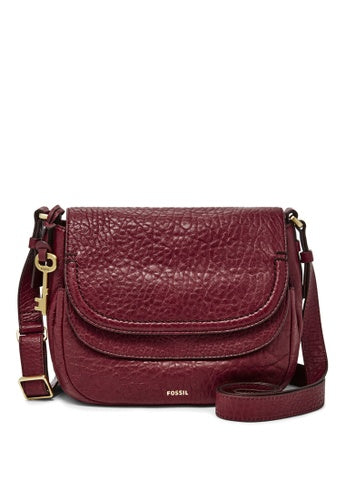 Fossil Peyton Double Flap Small Wine