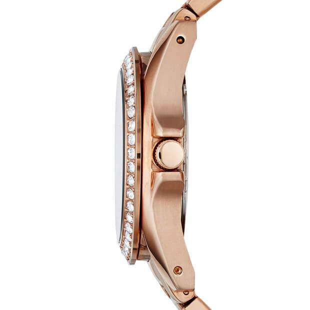 Fossil Riley Multifunction Rose-Tone Stainless Steel Watch