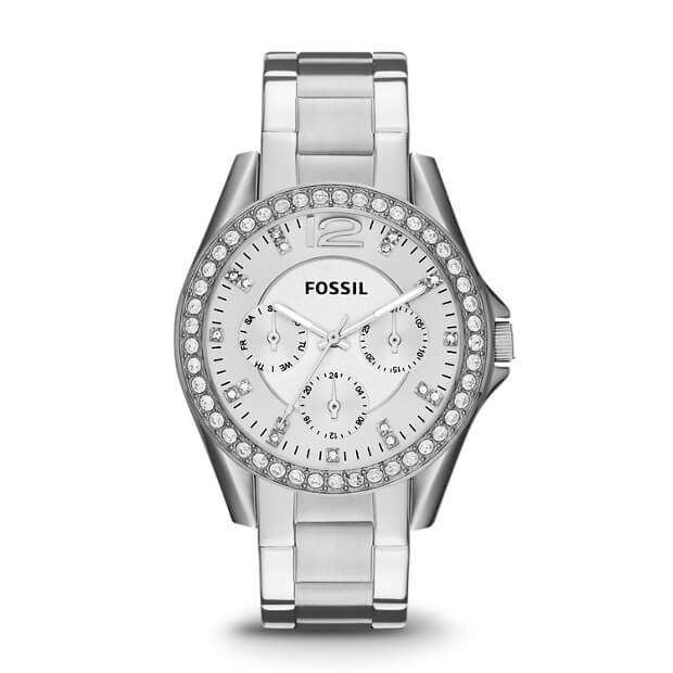 Fossil ES3202 Riley Multifunction Silver Stainless Steel