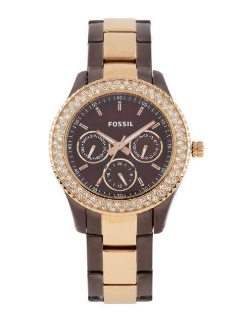 Fossil Stella Chocolate Stainless Steel Ladies Watch