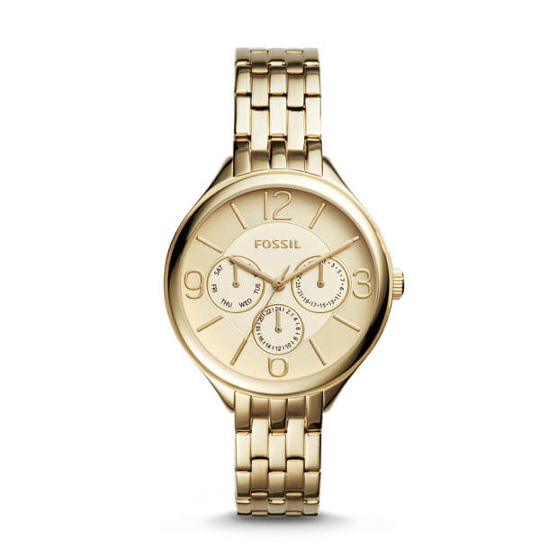 Fossil Suitor Multifunction Gold Tone Stainless Watch