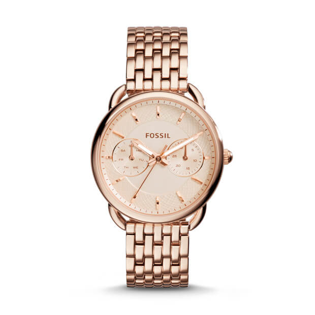 Fossil Tailor Multifunction Rose Gold Watch