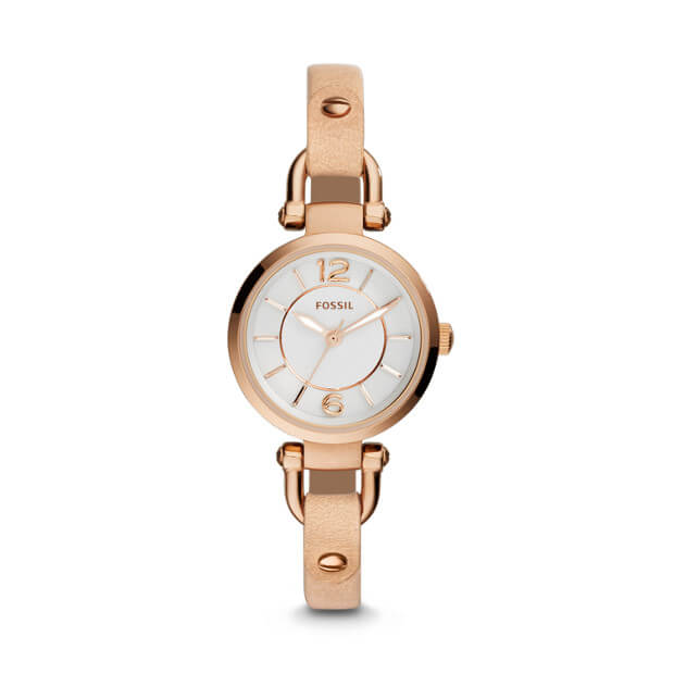 Fossil Es3745 Women Georgia Sand Leather Watch