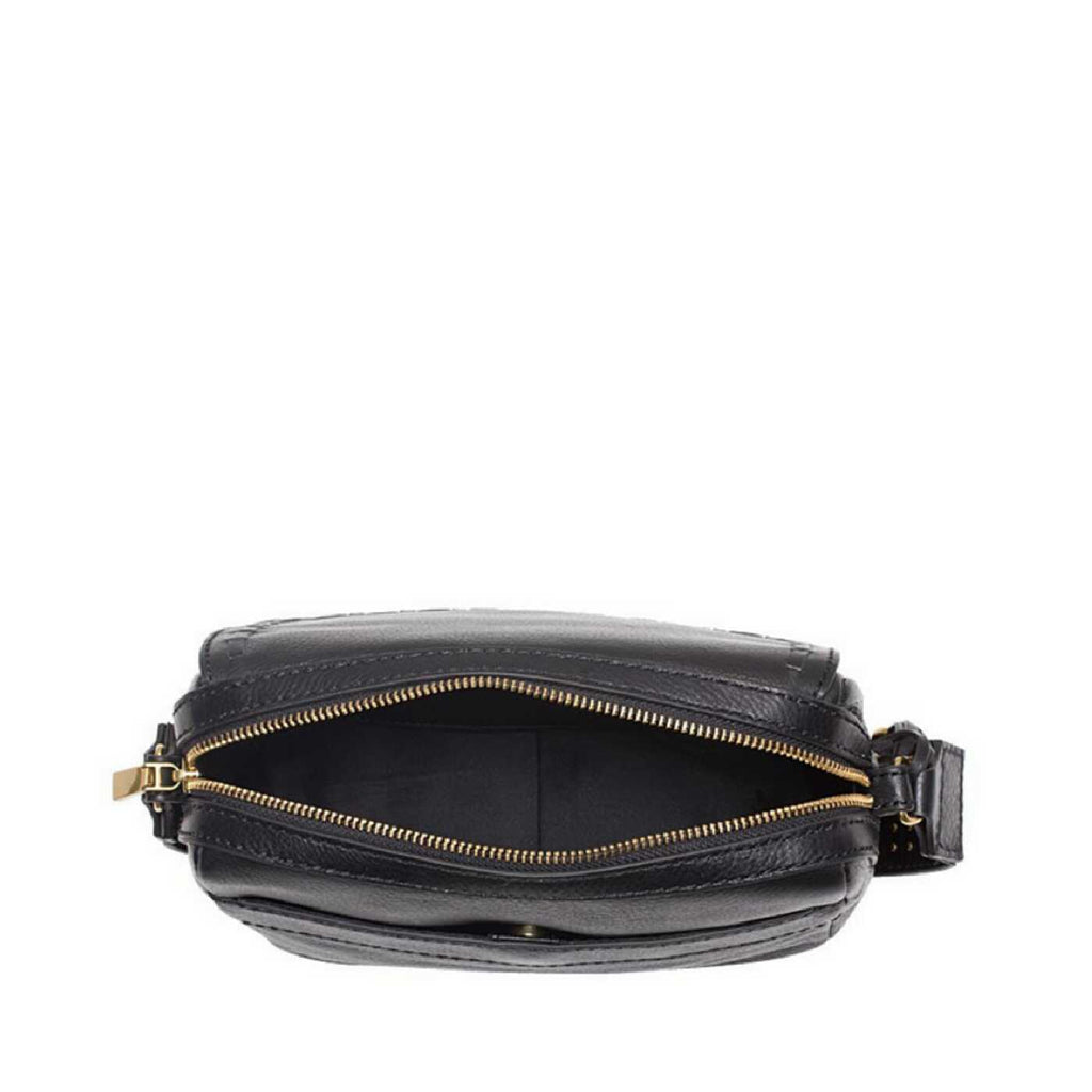 Fossil ZB7371016 Aria Embossed Small Crossbody Black Multi