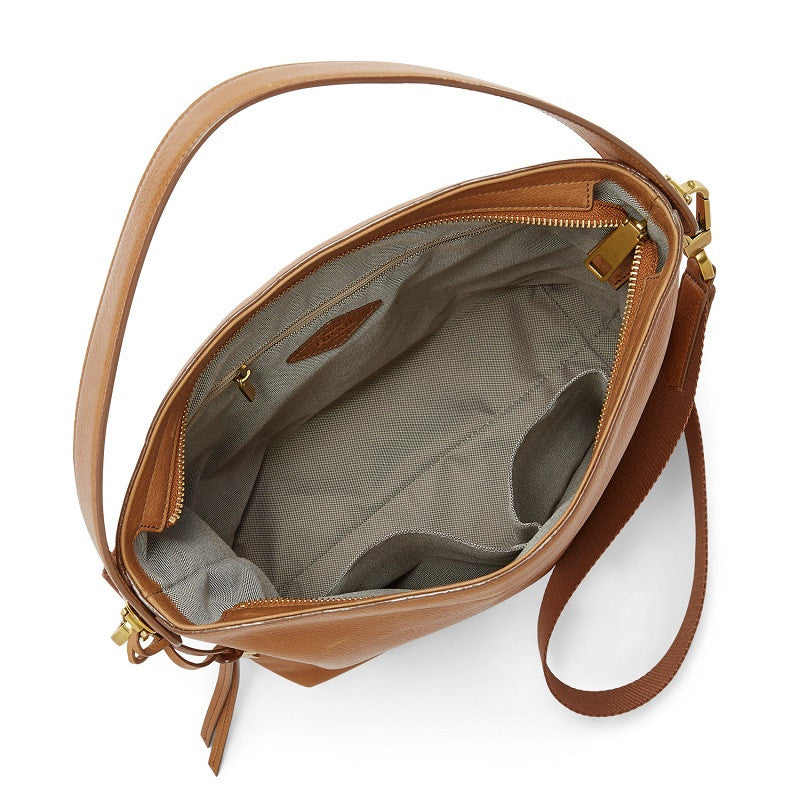 Fossil Zb6979-231 Maya Small Hobo Tan
