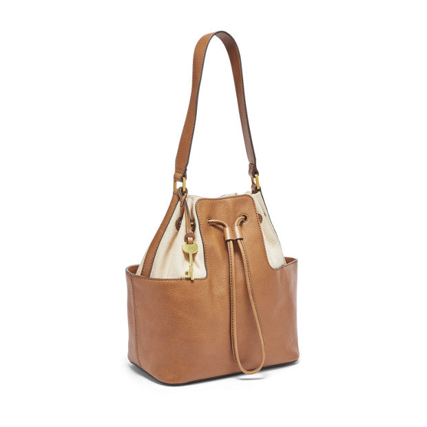 Fossil Zb7530231 Cooper Bucket Shoulder Tan